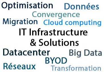 Compétences infrastructure informatique et Solutions